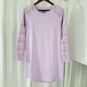 Joe Boxer Purple/Pink Flannel Pajama Dress